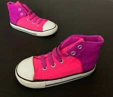 Converse All Star Toddler Girl High Top Shoes Size 10 Pink Slip On No Tie Laces