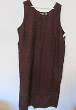 New Women's Style & Co Brown Linen Mid-Calf Summer Tank Top Dress Plus Size 20W