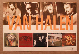 Van Halen 1995 Catalog Promo Poster Brand New Condition Sammy Hagar