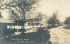 A View of the Homes Along the North Side Drive, Clear Lake IN RPPC