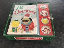 BNIB New Box of 12 Molly & Rex Christmas Cards / Notes & Envelopes & Stickers