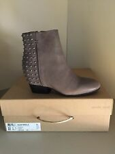 Gentle Souls Block Fierce Gray Leather Ankle Boots Size 6.5 M *NEW