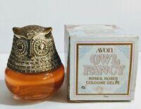 Vintage Avon 1974 Owl Fancy Roses, Roses Cologne Gelee FULL BOTTLE