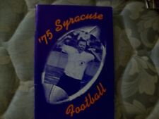 1975 SYRACUSE ORANGEMEN FOOTBALL MEDIA GUIDE Yearbook Press Book Program NCAA AD