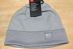 under armour mens coldgear keeps you warm infrared fleece beanie hat grey osfm