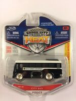 Jada Badge City Heat #012 City Bus Police County Sheriff Dept DieCast 1/87 Scale