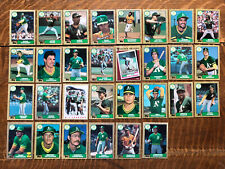 1987 OAKLAND ATHLETICS Topps COMPLETE Baseball Team Set 30 Cards MCGUIRE CANSECO