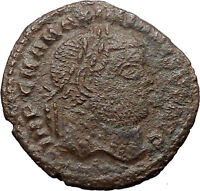 Maximian Constantine the Great enemy Ancient Roman Coin Nude Genius i30879