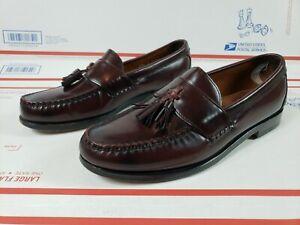 Allen Edmonds Stowe Tassel Loafers Men's Size 9.5 D Burgundy Oxblood