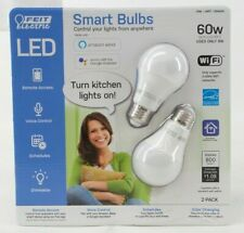 Feit Electric LED Smart Bulb 60W 800 Lumens 2 Pack Works With Alexa and Google