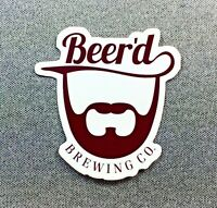 Beer'd Brewing Co Sticker 3in Brewery