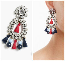 NWT J.Crew 100% Authentic Crystal and Tassel Earrings item H4256