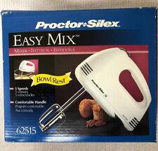 Proctor Silex 62515 5-Speed Easy Mix Hand Mixer, White