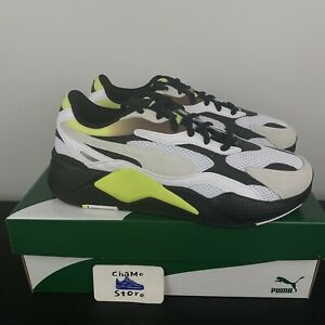 PUMA RS-X3 NEO FADE White-Fizzy Yellow-Puma Black SNEAKERS 37337702 NEW Size 12