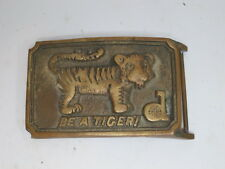 Vintage Detroit Tigers Brass Belt Buckle 1960s 1970s