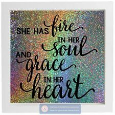 She has fire in her Soul Grace in her heart Sticker for Box Frame picture frame