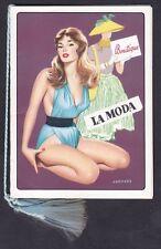 CALENDARIETTO 1961 LA MODA - PIN-UP - Illustratore CORDARA old pocket calendar