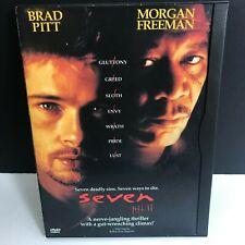 Seven Se7en (Dvd Snapcase) Brad Pitt Morgan Freeman David Fincher Scary Thriller