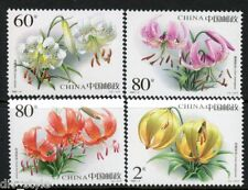 Flowers set of 4 mnh stamps China 2003-4 Lilies