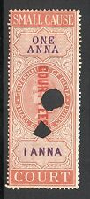 1868 India Small Cause Court Fees Revenue Bft:135 1a Brown & Violet.
