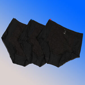 Black Full Briefs ex. Famous Store 3 PACK Size 10 12 14 16