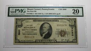 $10 1929 Mount Carmel Pennsylvania PA National Currency Bank Note Bill 8679 VF20