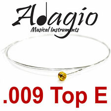MultiPack Of 5 Spare Single .009 Top E Acoustic Electric Guitar Strings - Adagio