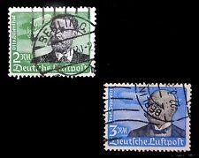 GERMANY 1934 Zeppelin SG535/6 Cat £95 Used NB1796