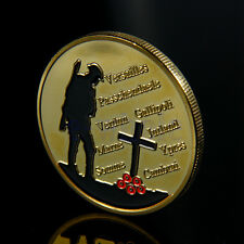 Gold Plated The Great War Commemorative Coin Art Collection Collective Gift WS
