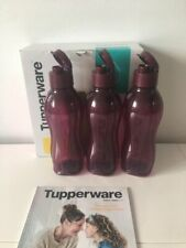 New Tupperware Eco Aquasafe Water Bottle with Flip Top 750 ml. (Set of 3)