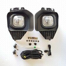 For 2011-2016 Ford F250 F350 F450 F550 Super Duty Clear Fog Light +Switch Wiring