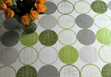 Green Circles Design Wipe Clean Tablecloth by WJDhome,Oilcloth,PVC.140cm x 300cm