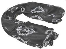 Fashion Skull Long Scarf Shawl Women's Scarf Wrap Black USA N202