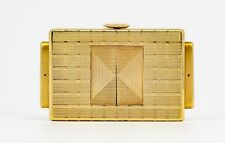 Cartier Yellow 18K Gold Traveling Shutter Watch Clock