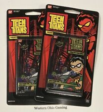 Teen Titans CCG 2 x Blister Booster Pack NEW Collectible Trading Card Game TCG