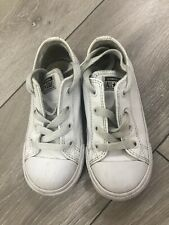Converse All Star Size 9k Childrens Kids Trainers Shoes Footwear White