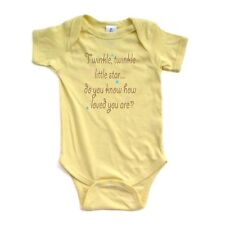 Cute Unisex Twinkle Little Star Do You Know How Loved You Are Rhyme Baby Creeper