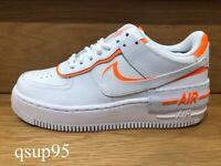 Nike Air Force 1 Low Shadow White Total Orange CI0919 103 Womens Size 6-10 New