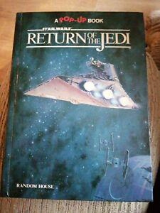 STAR WARS RETURN OF THE JEDI POP UP HARDBACK  BOOK VINTAGE 1983
