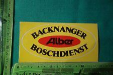 Alter Aufkleber Backnanger Boschdienst Alber
