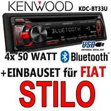 FIAT STILO - Kenwood radio de Coche Bluetooth Android USB CD MP3 - Set montaje