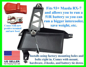 Mazda RX-7 FD3S 93+ Stainless Tray Mount for 51R Battery Tie Down Terminal Boot