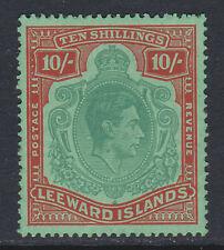 LEEWARD ISLANDS 1938-51 10/- WITH MISSING PEARL FLAW SG 113ca MINT.