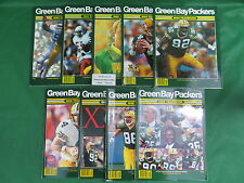 Lot of 9 1990s GREEN BAY PACKERS YEARBOOKS (Missing 1995) BRETT FAVRE YEARS!