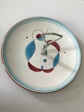 Vintage Stangl VIII Pottery LYRICS Round Serving Plate w/ Handle