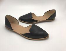 Loeffler Randall New Black Leather Prue d' Orsay Flats Sz 6 Shoes