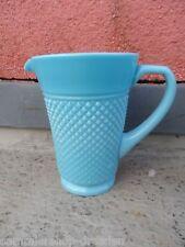 Glaskrug Whiskykrug Preßglas Milchkrug Whiskey Milk jug pressed blau blue