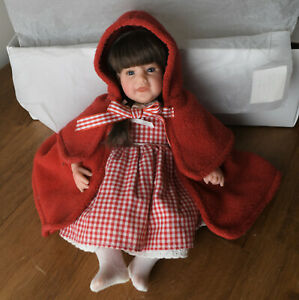 """Lee Middleton Miniatures Doll """"Little Red Riding Hood"""" by Reva Schick Boxed"""