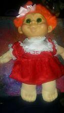 Vintage 12 inch stuffed troll doll by multi toys