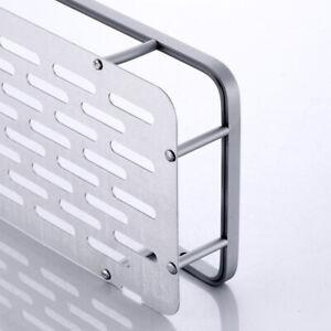 Bathroom Shelf Space Aluminum Wall Mount Storage Organizer Rack with Screws SUP